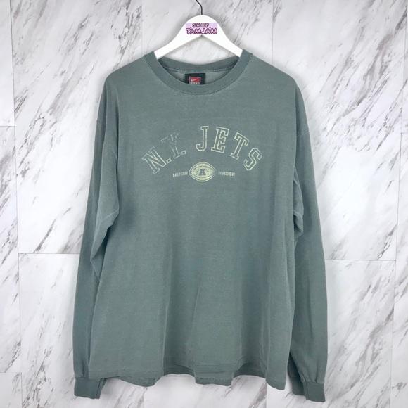 03049979 Vintage Nike New York Jets Long Sleeve T-Shirt